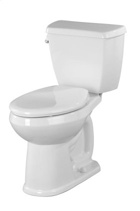 """White Avalanche® 1.28 Gpf 10"""" Rough-in Two-piece Elongated Ergoheight Toilet"""