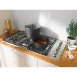 Miele Gas cooktop with 2 dual wok burners for particularly versatile cooking convenience.