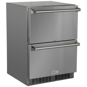 24-In Outdoor Built-In Refrigerated Drawers with Door Swing - Field Reversible -