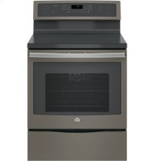 """30"""" Free Standing Electric True Convection Range with Touch Controls and Induction Elements"""