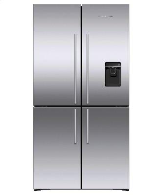 """Freestanding Quad Door Refrigerator Freezer, 36"""", 18.9 cu ft, Ice & Water"""
