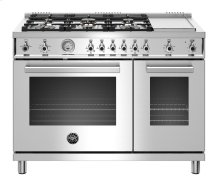 "48"" Professional Series range - Gas Oven - 6 brass burners + griddle - LP version"