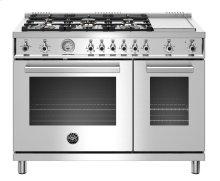 "48"" Professional Series range - Gas Oven - 6 brass burners + griddle - LP version"