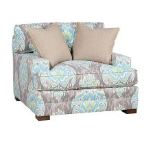 Casbah Fabric Chair & 1/2, Casbah Fabric Ottoman
