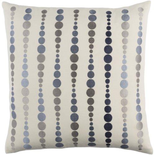 "Dewdrop DE-004 22"" x 22"" Pillow Shell with Polyester Insert"