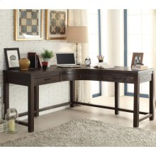 Promenade - Curved Corner Desk - Warm Cocoa Finish