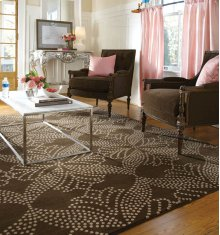 Lovely-Grace Chocolate Hand Knotted Rugs