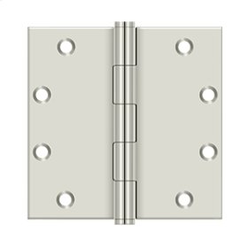 """5"""" x 5"""" Square Hinges - Polished Nickel"""