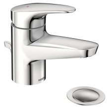 Commercial chrome one-handle lavatory faucet