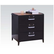 Black Cabinet W/3 Drawers