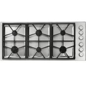 "46"" Professional Gas Cooktop, Liquid Propane"