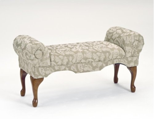 7109  Traditional Boudoir Bench - Ivory