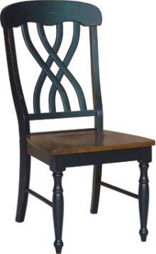 Latticeback Chair Aged Ebony & Espresso