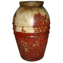 Textured Red Vine Jar