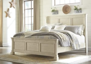 RED HOT BUY- BE HAPPY! Queen Louvered Headboard