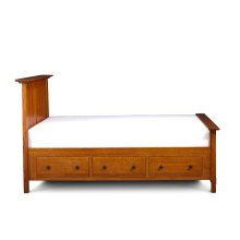 McCoy Under-Bed Storage, 3-Drawers Each Side