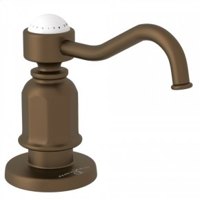 English Bronze Perrin & Rowe Traditional Deck Mount Soap Dispenser