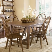 5 Piece Trestle Table Set