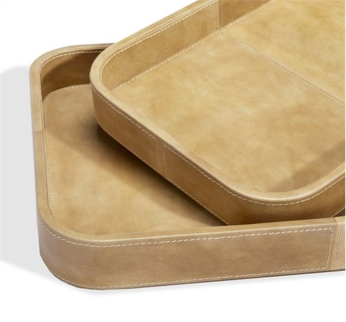 Nadine Rectangular Trays - Tan