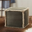 "Life Styles As301 Charcoal 16"" X 16"" Poufs Product Image"