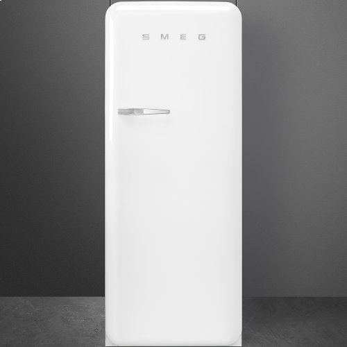 50'S Style Refrigerator with ice compartment, White, Right hand hinge