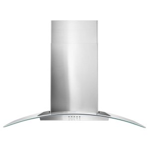 "Whirlpool36"" Concave Glass Wall Mount Range Hood"