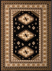 Dallas Tres Black Rugs