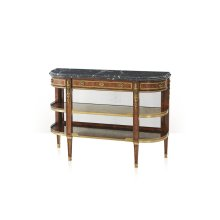 Victorian Break Bowfront Console Table