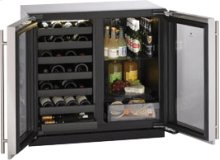 """Stainless Double Door Modular 3000 Series / 36"""" Wine Captain® / Beverage Center / Dual Zone Convection Cooling System-CLOSEOUT"""