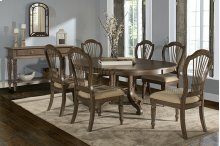 Wilshire 7-piece Round Dining Set - Ash Gray