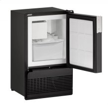 """Marine Series 14"""" Marine Crescent Ice Maker With Black Solid Finish and Field Reversible Door Swing"""