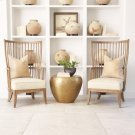 Spindle Wing Chair-Muslin Product Image