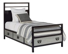 Kettle Metal Stair Rail Youth Storage Full Bed