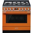 "Portofino Pro-Style Dual Fuel Range, Orange, 36"" x 25"" Product Image"