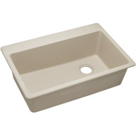 "Elkay Quartz Classic 33"" x 22"" x 9-1/2"", Single Bowl Drop-in Sink, Putty"