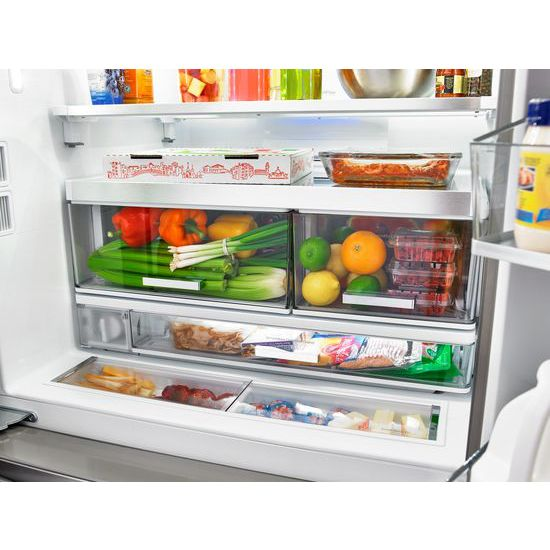 Whirlpool® 36 Inch Wide French Door Refrigerator With Infinity Slide Shelf    32 Cu