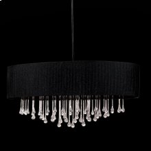 6-LIGHT OVAL PENDANT - Black