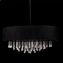6-LIGHT OVAL PENDANT - Black