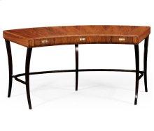 Art Deco High Lustre Curved Desk for Drawers
