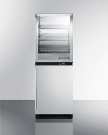 Fully Assembled Warming Cabinet & All-refrigerator Stacked Combination
