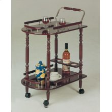 Recreation Room Traditional Merlot Serving Cart