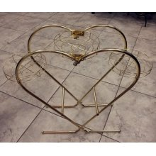 HEART SHAPED PLANT STAND BRASS