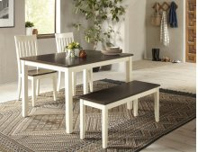 Decatur Lane 4pack Dining Set - Autumn Brown/white