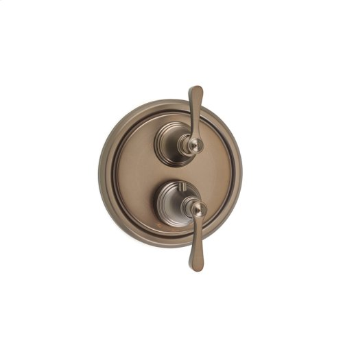 Dual Control Thermostatic with Diverter and Volume Control Valve Trim Berea (series 11) Bronze