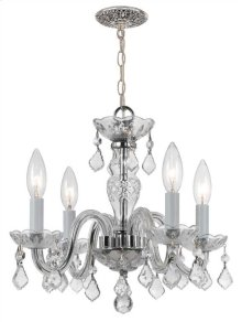 Traditional Crystal 4 Light Clear Swarovski Strass Crystal Chrome Mini Chandelier