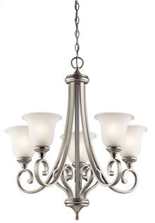Monroe 5 Light Chandelier Brushed Nickel