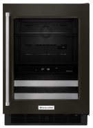 """24"""" Stainless Steel Beverage Center with SatinGlide® Metal-Front Racks - Black Stainless"""