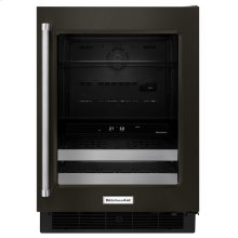 "24"" Stainless Steel Beverage Center with SatinGlide® Metal-Front Racks - Black Stainless Steel with PrintShield™ Finish"