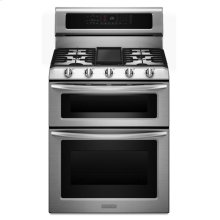 30-Inch, 5-Burner Freestanding Double Oven Range with Even-Heat Convection - Stainless Steel