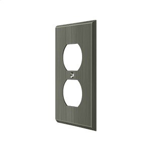 Switch Plate, Double Outlet - Antique Nickel